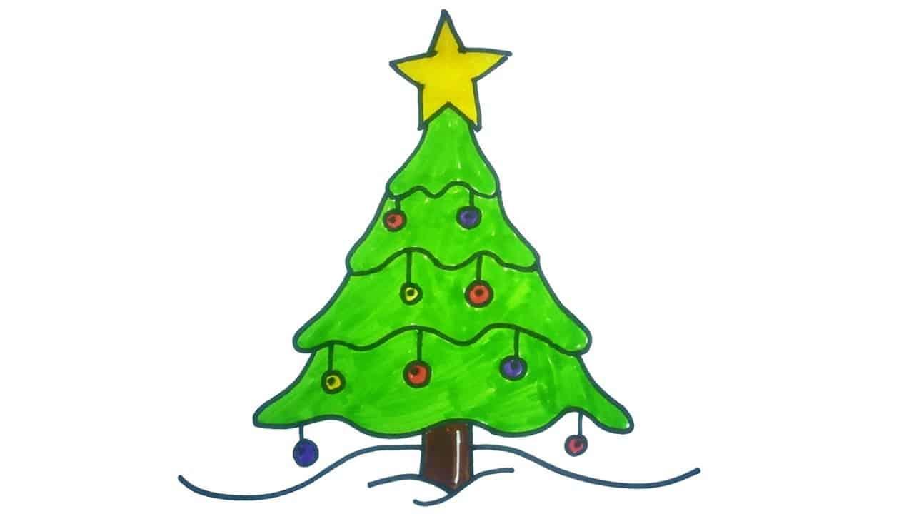 15 Diy Christmas Tree Drawings To Do With The Kids
