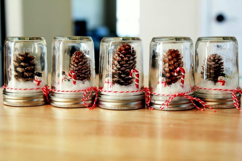 5 Mason Jar Snow Globes Diy Thought