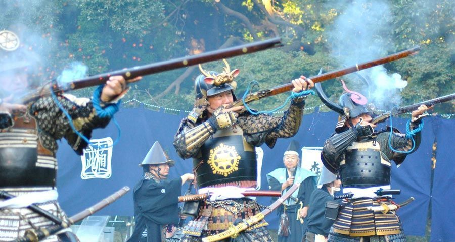جنود الساموراي بالبنادق