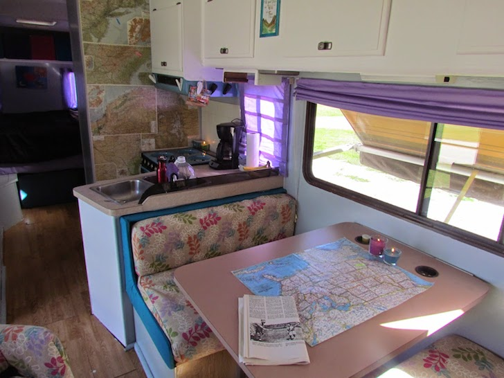 bright colored sofa covers large material corner sofas total renovation of a 1988 fleetwood tioga motorhome