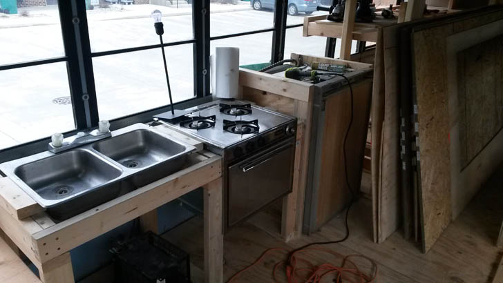 One Wall Galley Kitchen