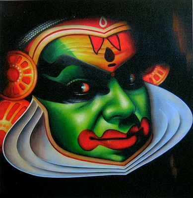 Hanuman Animated Wallpaper Kathakali Face
