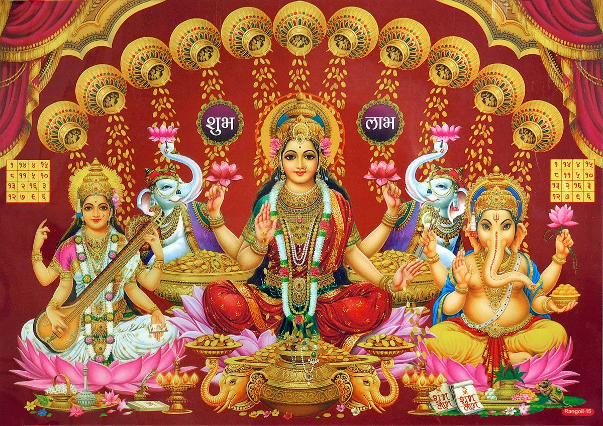 3d Laxmi Wallpaper Hindu Deities Shop Online