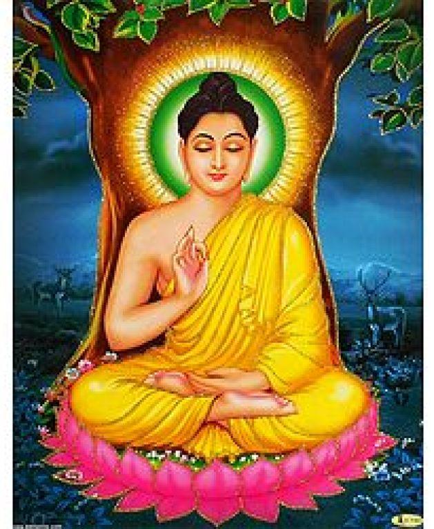 Lord Buddha in Meditation - Glitter Poster