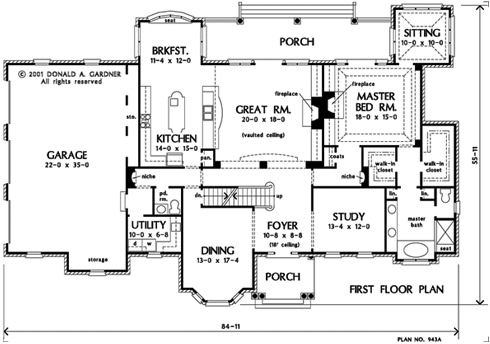 Home Plan The Wellingley by Donald A. Gardner Architects