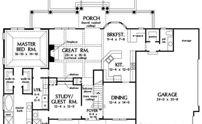 Home Plan The Callaway By Donald A Gardner Architects