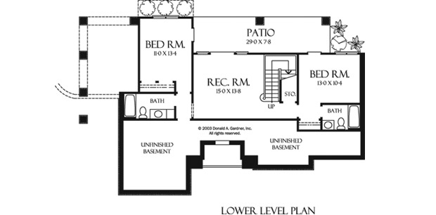 Home Plan The Stone Ridge by Donald A. Gardner Architects