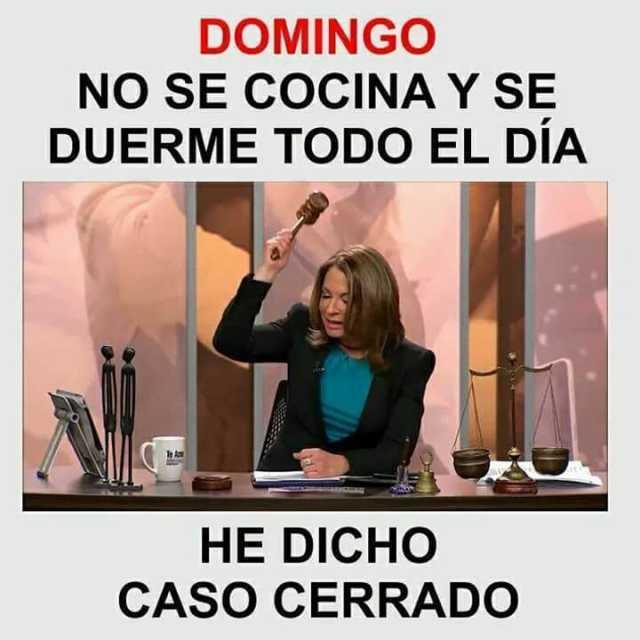 dopl3rcom  Memes  DOMINGO NO SE COCINA Y SE DUERME TODO