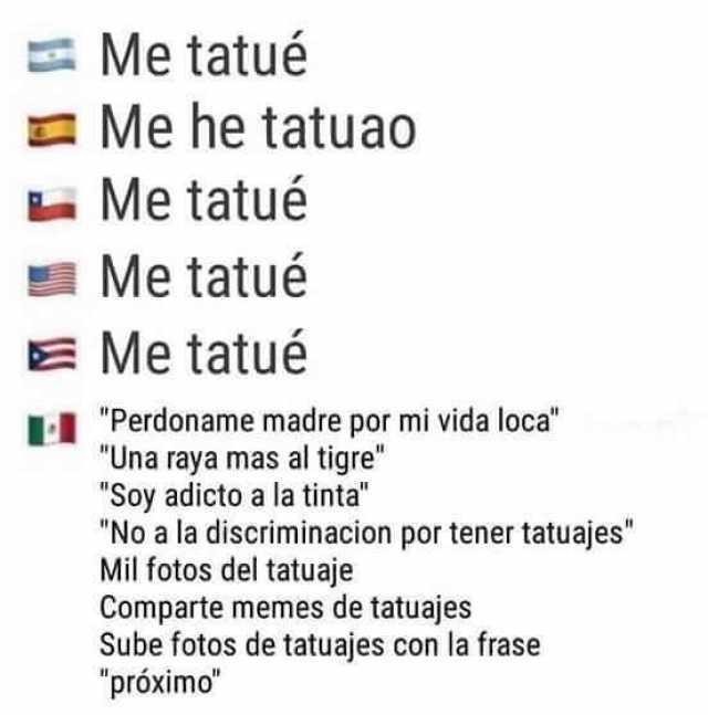 Dopl3rcom Memes Me Tatué ед Me He Tatuao Me Tatué Me Tatué E Me