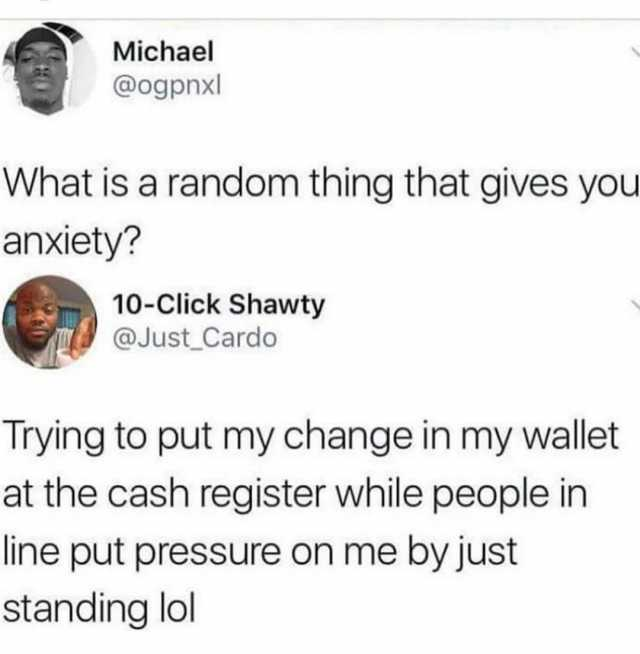 Image result for random thing that gives you anxiety