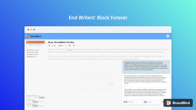 Wordblot: Your AI-powered writing assistant