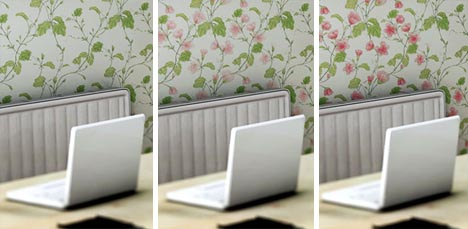 Colour changing wallpaper