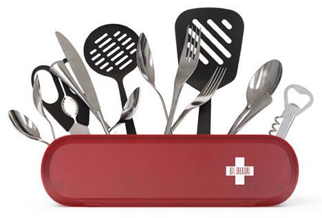 creative kitchenware storage idea