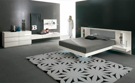 futuristic funky bed design