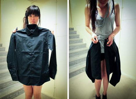 boyfriend shirt girlfriend skirt