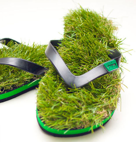 dornob: Grass Sandals? Front-Yard Flip Flops Take Gardens to Go