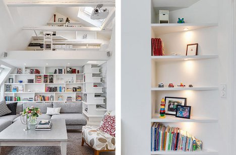 Built In Storage Units Throughout The Apartment Maximize Wall E Without Intruding Into Living Area