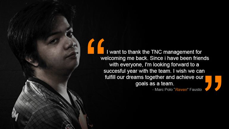Raven Returns To TNC Gaming Team Still Searching For