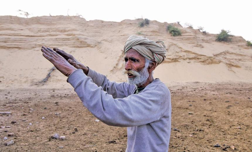Degraded Aravallis allow strong winds to blow from Rajasthan to the northern plains. Over the centuries, sandstorms have created this huge mountain in Ferozepur Jhirka town of Haryana