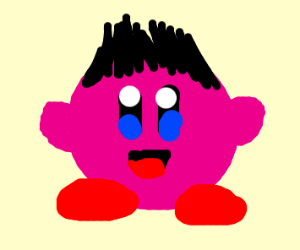 kirby covers himself in
