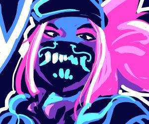 neon cool punk drawing fyi drawings drawception