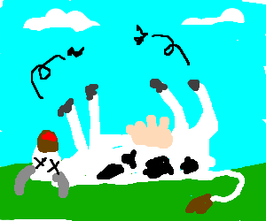 Cow With Trollface Drawception