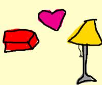 Brick : I love lamp. - Drawception