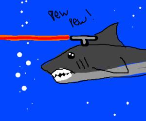 sharks evolve frickin lasers
