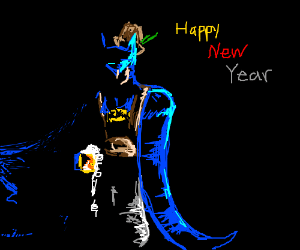 Batman In Short Shorts Happy New Year Drawception