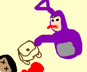 Teletubbie kills dora to get backpack with map  Drawception