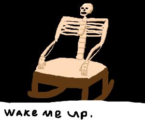 skeleton chair wake me up oversized zero gravity inside drawception purplepigeon 3 rocking