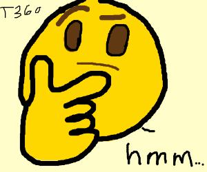 the thinking emoji drawception