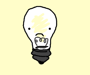 sad light bulb drawing by commonivy  Drawception