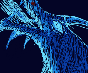 really cool ice dragon