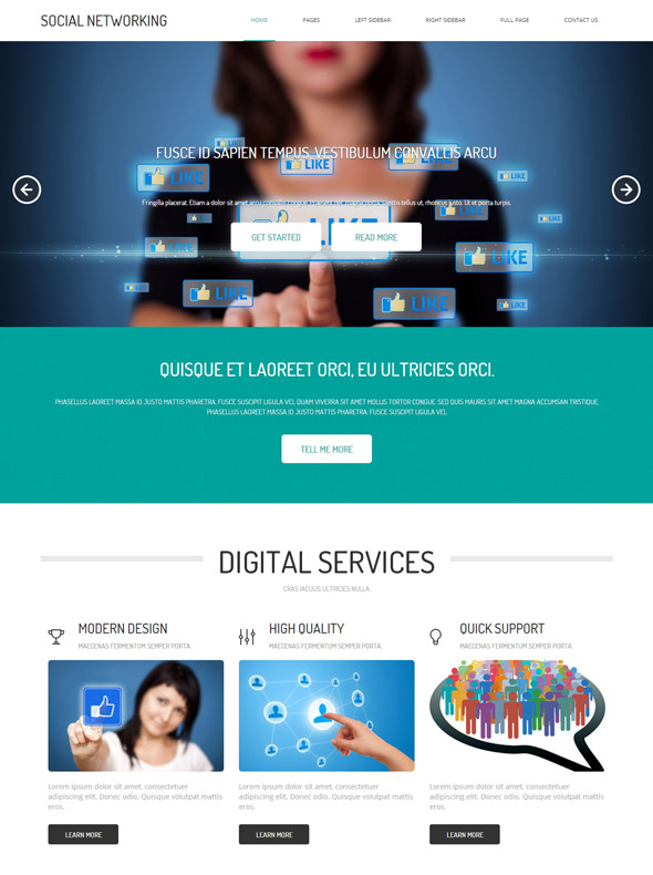 website templates for social networking sites