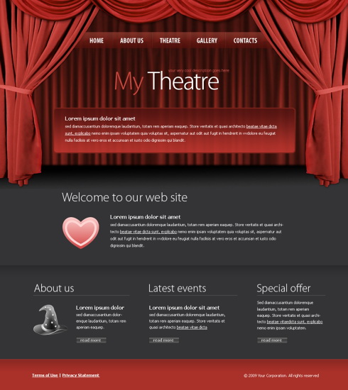 Theater CSS Template 5973 Entertainment Amp Media