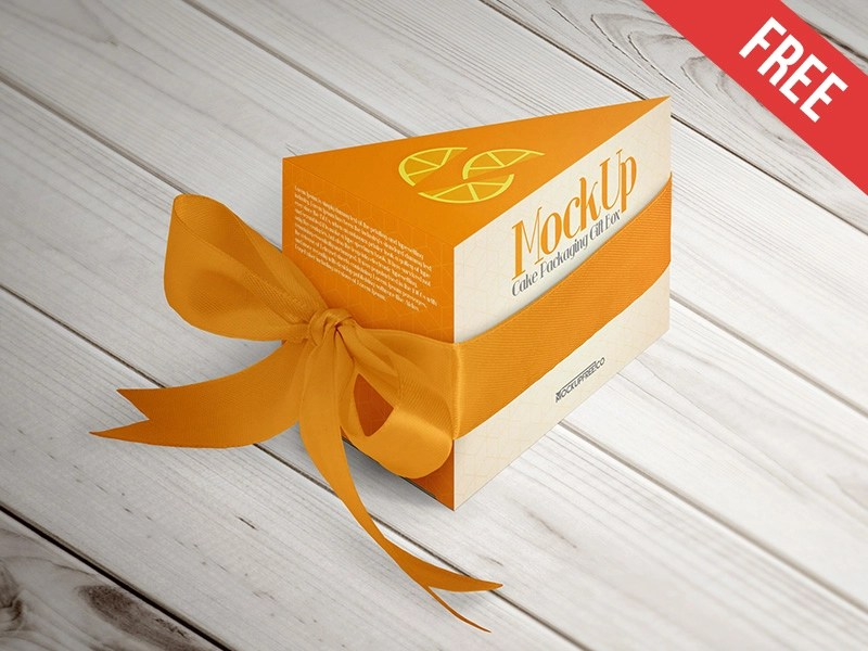 Download Cake Packaging Gift Box - Free PSD Mockup by Mockupfree ...