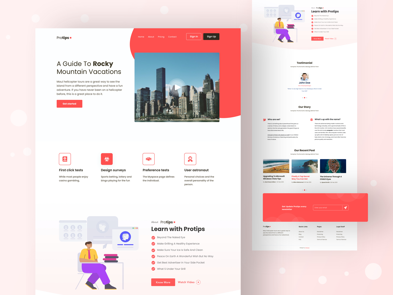 If you would like to establish a strong and memorable first impression, readit is the one template that will do the trick. Sketch Website Template Designs Themes Templates And Downloadable Graphic Elements On Dribbble