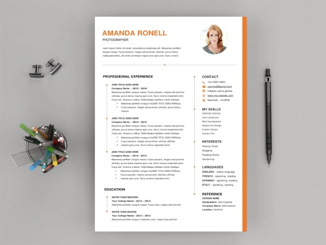 Timeline Microsoft Word Resume Template