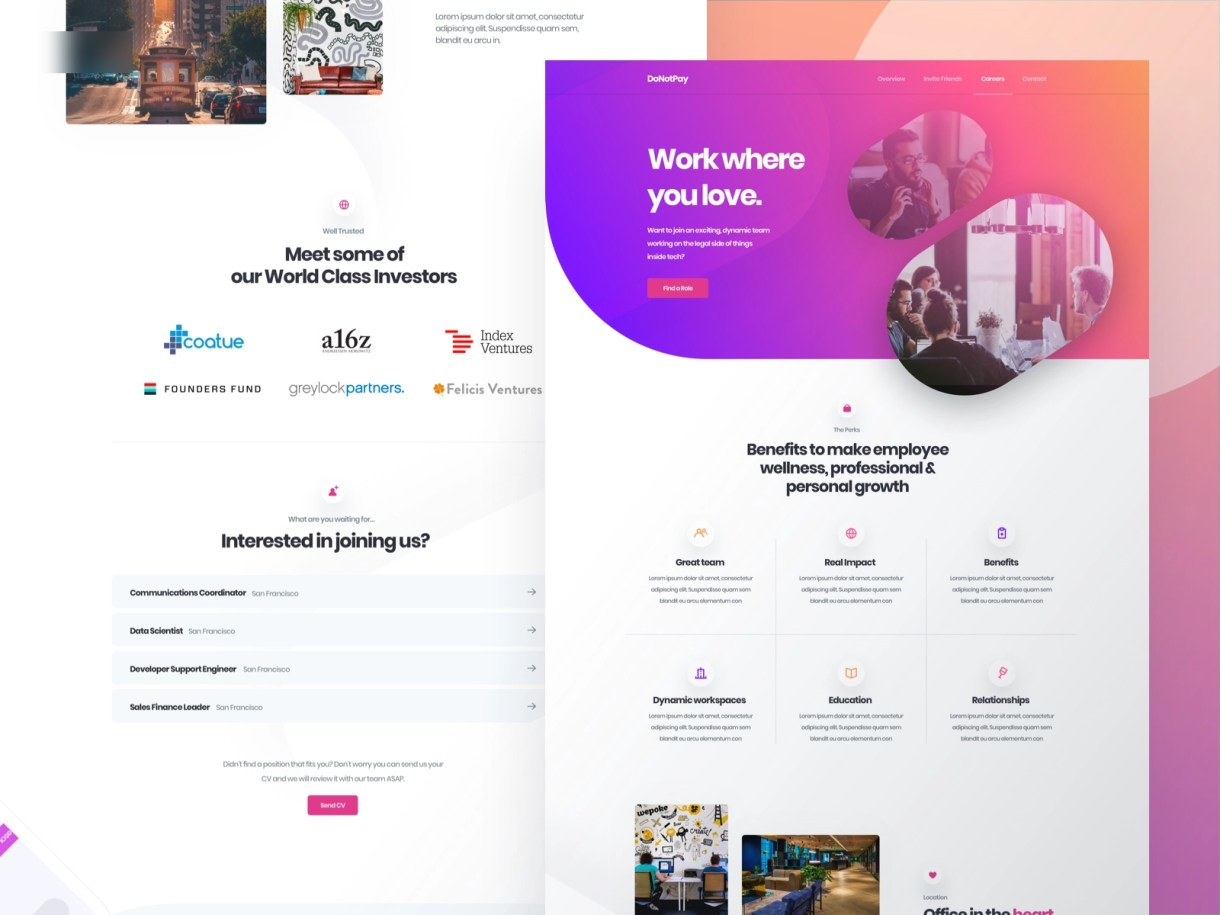 Full Careers Page by Alex Banaga on Dribbble