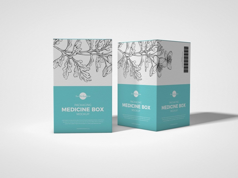 Download Free Packaging Medicine Box Mockup by Free Mockup Zone on ...