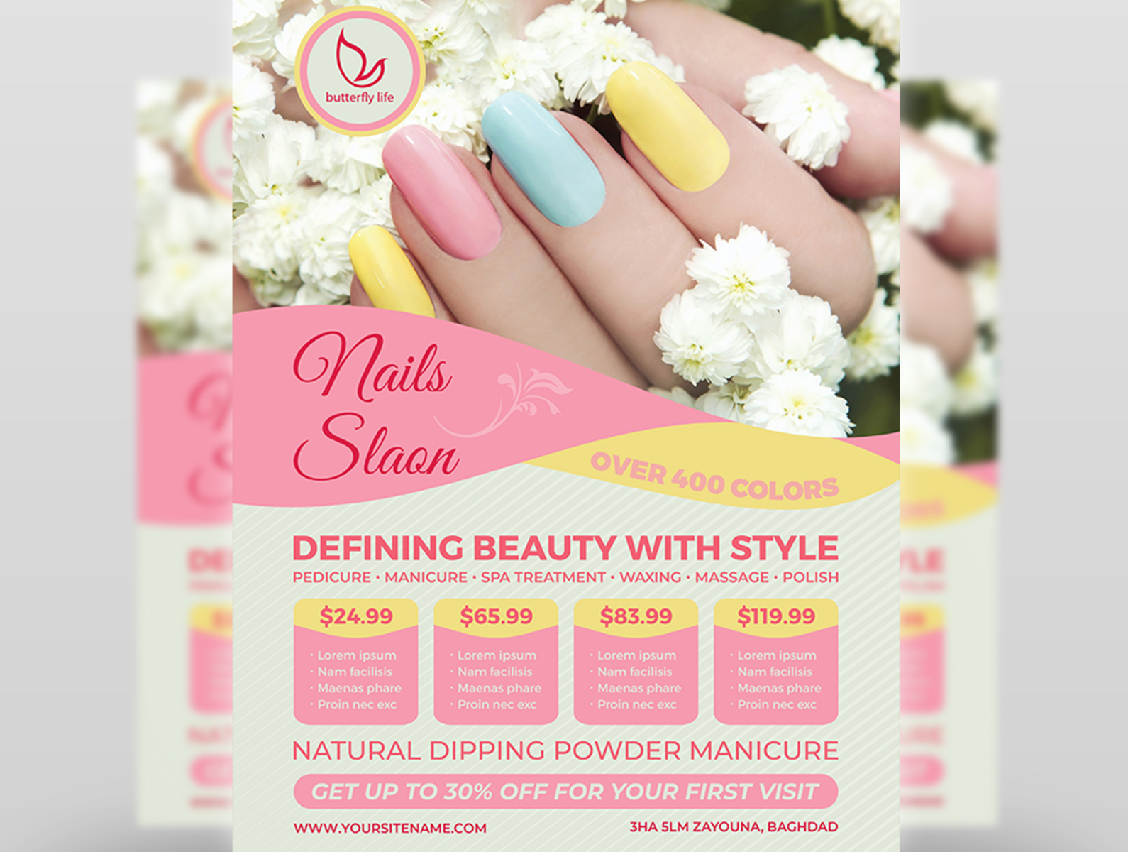 nail salon flyer template by owpictures