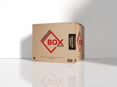 Download Free Cargo Delivery Cardboard Box Mockup by Jessica Elle ...
