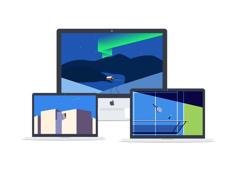 Minimalist Wallpaper Desktop or Laptop - illustration by ...