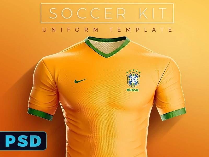 Download Soccer Kit / Uniform PSD Template by Ali Rahmoun ...