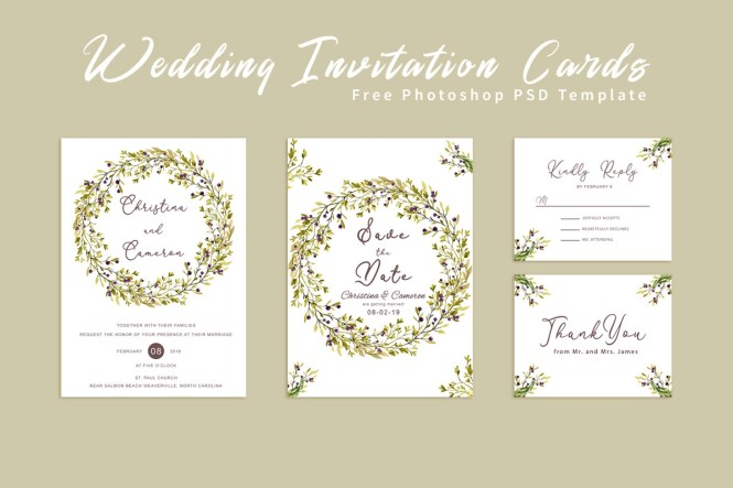 Free Wedding Invitation Card By Creativeultra On Dribbble