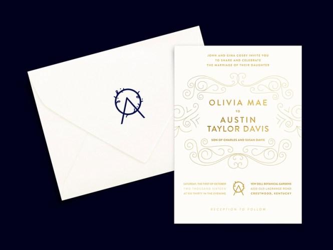 O A Wedding Invitation Logo Stamped Envelope By Lindsey