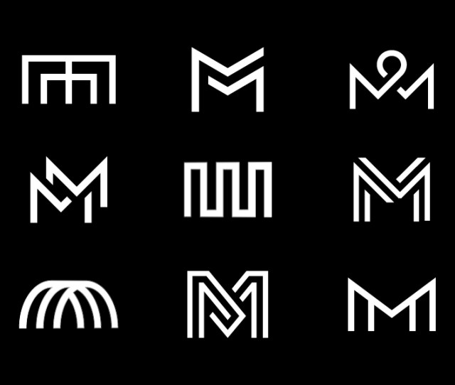 Mm Onograms Mm Black And White Monogram Typography Type Branding Identity Logo