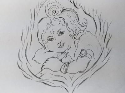 Lord Krishna Art By Mlspcart On Dribbble