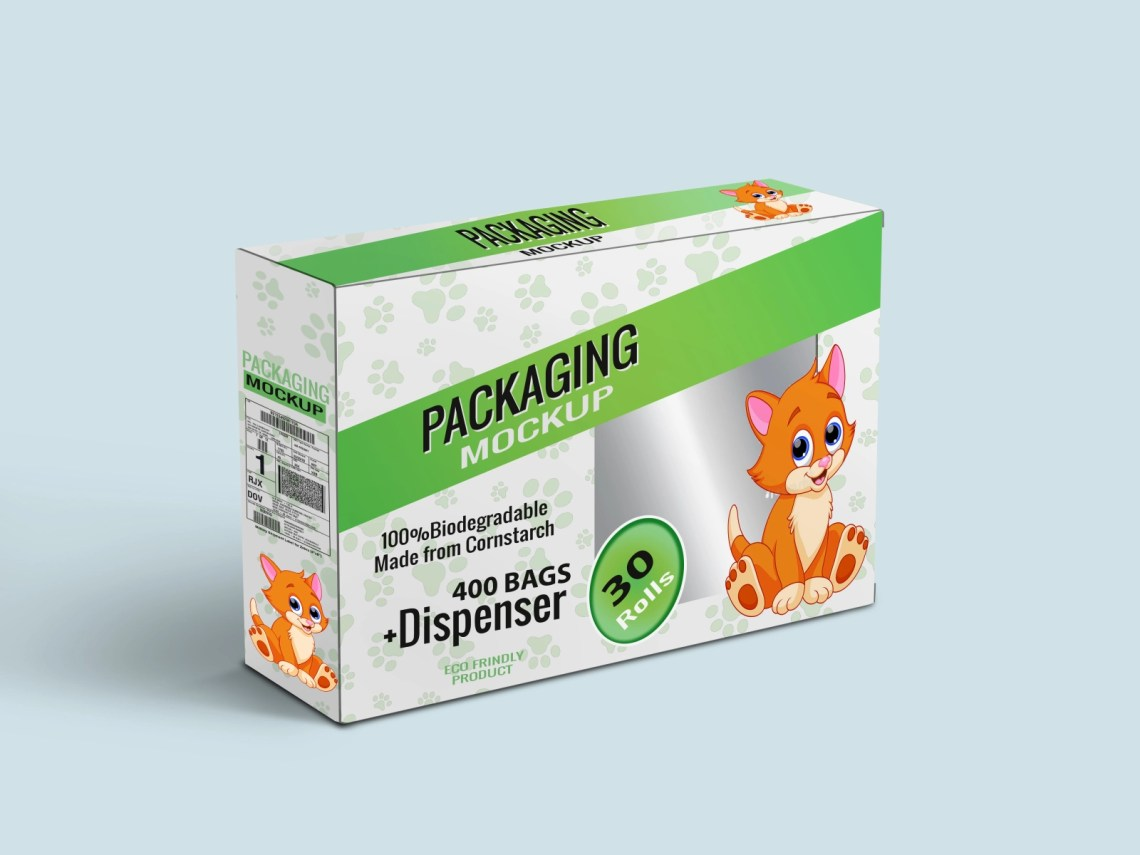 Download Free Cat or Dog Food Packaging Box Mockup | PSD Template ...